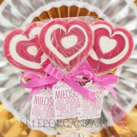 Lizak duży serce ciemnoróżowe- personalizacja- kolekcja LOVE