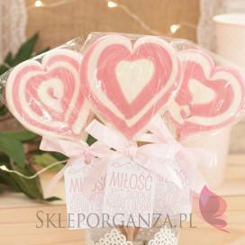 Lizak duży serce różowe- personalizacja- kolekcja LOVE