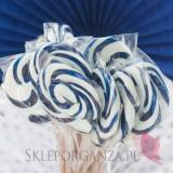 Lizaki weselne personalizowane Lizak okrągły szafirowy - personalizacja - kolekcja LOVE