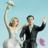 Figurki na tort Porcelanowa figurka na tort - Para w Aucie