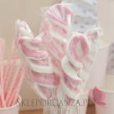 Kręcone lizaki na wesele Lizak świderek różowy duży
