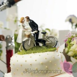 Porcelanowa figurka na tort - Rower