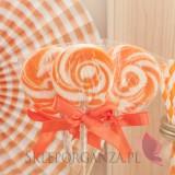 Lizak okrągły pomarańczowy