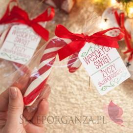Lizak laska świąteczna - personalizacja ŚWIĘTA