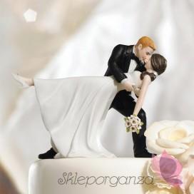 Porcelanowa figurka na tort - Romantyczny taniec