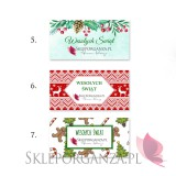 Upominki świąteczne Personalizowany miód wielokwiatowy z kratką BARDZO DUŻY - personalizacja - ŚWIĘTA