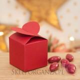 Świąteczne pudełko serce czerwone