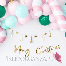 Kolekcja Złota na Święta Baner Merry Christmas, złoty