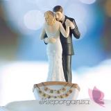 Porcelanowa figurka na tort - Łódka miłości