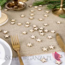 Kolekcja Święta Skandynawskie -Drewniane konfetti gwiazdki