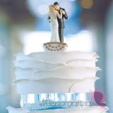 Figurki na tort Porcelanowa figurka na tort - Łódka miłości