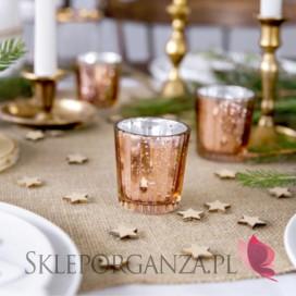 Świecznik dekoracyjny, różowe złoto 6cm, 4szt