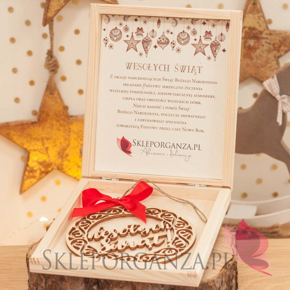 Upominki świąteczne Zestaw prezentowy z ażurową bombką - personalizacja ŚWIĘTA