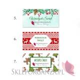 Upominki świąteczne - Zimowy zestaw miodów na sankach duży - upominek świąteczny