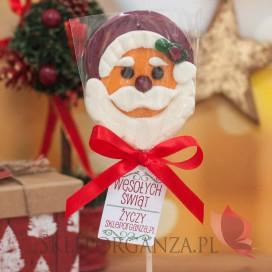 Upominki świąteczne Lizak duży Mikołaj - personalizacja - ŚWIĘTA