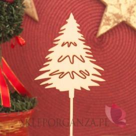Kolekcja Natural Christmas Drewniany topper Choinka