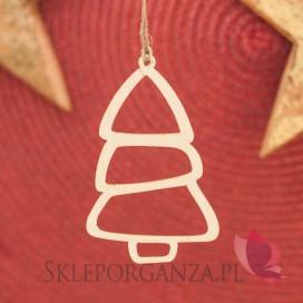 Kolekcja Natural Christmas Zawieszka drewniana Choinka