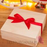Zestawy świąteczne prezentowe z miodami Świąteczny zestaw miodów w szkatułce – duży - personalizacja