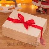 Upominki świąteczne Świąteczny zestaw miodów w szkatułce – średni - personalizacja