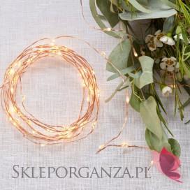 Inne dekoracje sali weselnej Lampki LED klamerki na miedzianym przewodzie