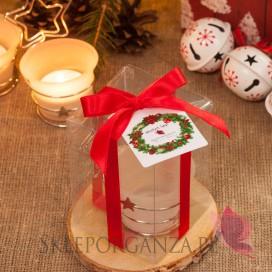 Upominki świąteczne - Świecznik gwiazdka - personalizacja - ŚWIĘTA