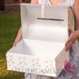 Ekskluzywne pudełka na koperty ślubne Ekskluzywny kuferek na koperty - HAFT