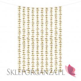 Złoty Kurtyna Girlanda Kwiatki na tło złota