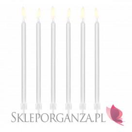 Fontanny i świeczki weselne Świeczki urodzinowe gładkie, białe, 12szt.