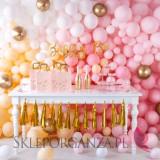Balony chromowane na wesele Balony CHROMOWANE glossy złote 30cm, 6 sztuk