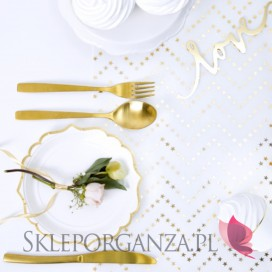 Inne materiały na wesele Fizelina dekoracyjna Gwiazdki