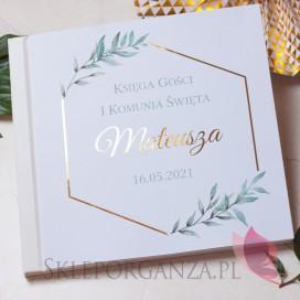 Księgi gości na Komunię Księga Gości Komunia – personalizacja kolekcja GEOMETRYCZNA GOLD