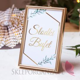 Inne dekoracje Słodkiego Bufetu na Komunię Znak – personalizacja kolekcja GEOMETRYCZNA GOLD