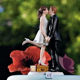 Figurki na tort Porcelanowa figurka na tort - Podróżnicy