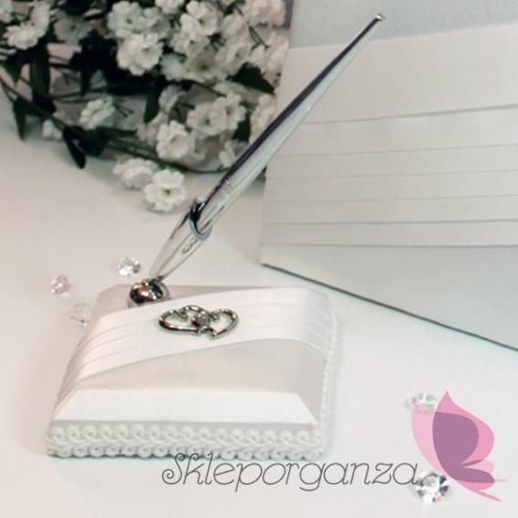 Długopis z podstawką - KOLEKCJA PLATYNOWA