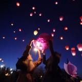 Latające lampiony Latające lampiony życzeń-Mix kolorów HURT- 100szt