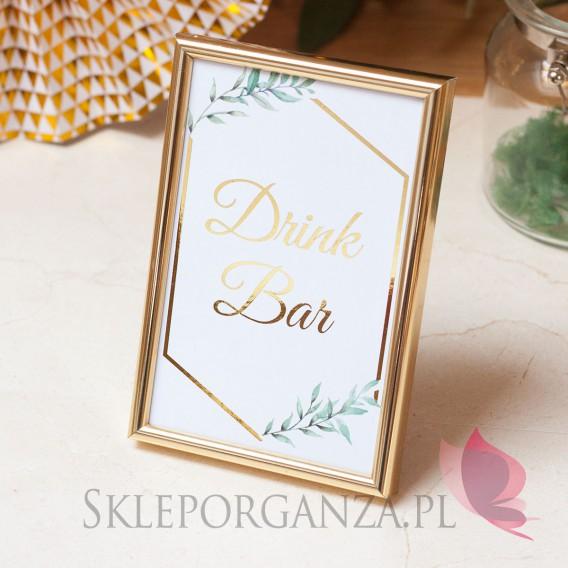 Znaki weselne Znak - personalizacja kolekcja ślubna GEOMETRYCZNA GOLD