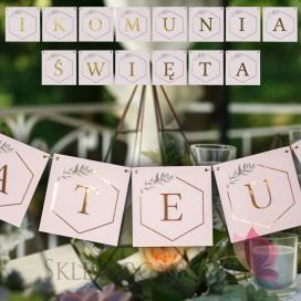 Litera/znak do baneru Komunia - personalizacja kolekcja GEOMETRYCZNA GOLD