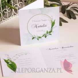 Zaproszenia komunijne personalizowane Zaproszenie Komunia 2 – personalizacja kolekcja KONWALIA