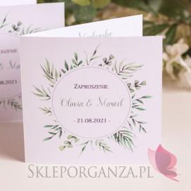 Zaproszenie 1 - personalizacja kolekcja ślubna ZIELONA GAŁĄZKA