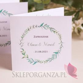Zaproszenie 2 - personalizacja kolekcja ślubna ZIELONA GAŁĄZKA