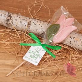 Lizak tulipan jasny róż – personalizacja