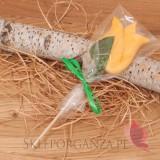 Kręcone lizaki na wesele Lizak tulipan żółty