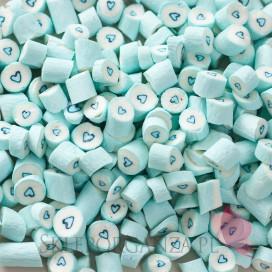 Cukierki karmelki jasnoniebieskie z sercem