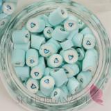 Niebieski Cukierki karmelki jasnoniebieskie z sercem