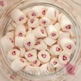 Biały Cukierki karmelki białe z sercem