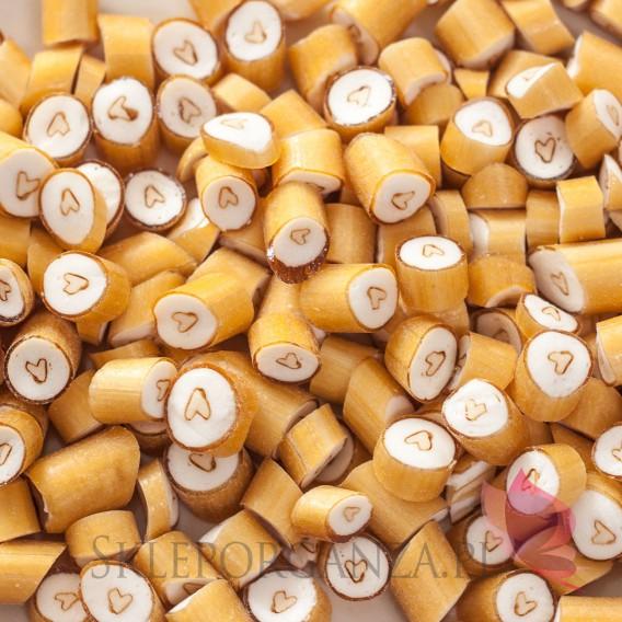 Złoty Cukierki karmelki złote z sercem