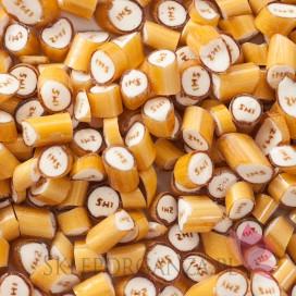 Słodycze komunijne Cukierki karmelki złote IHS