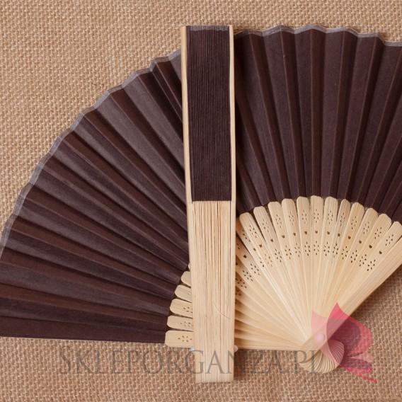 Wachlarze weselne Wachlarz papierowy brązowy