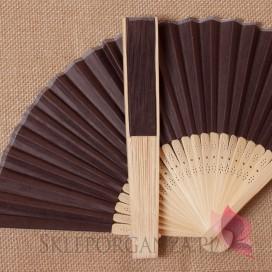 Wachlarz papierowy brązowy