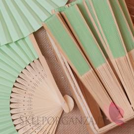 Wachlarze weselne Wachlarz papierowy jasnozielony
